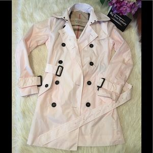 Authentic Preowned Burberry Brit pink trench coat